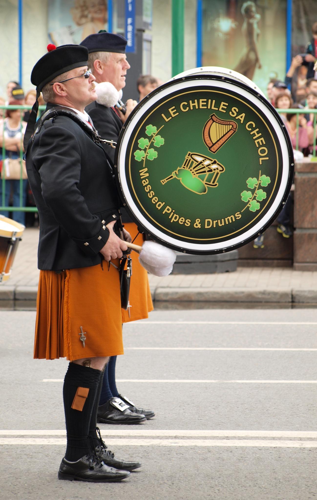 «Соединённые музыкой» - ирландский оркестр волынок и барабанов. Фотография Малец Михаила Георгиевича