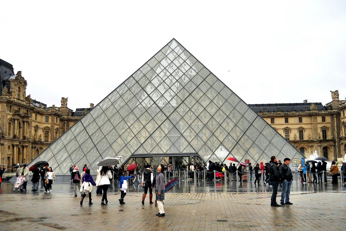 Стеклянная пирамида Лувра во дворе Наполеона. Фотография Малец Михаила Георгиевича