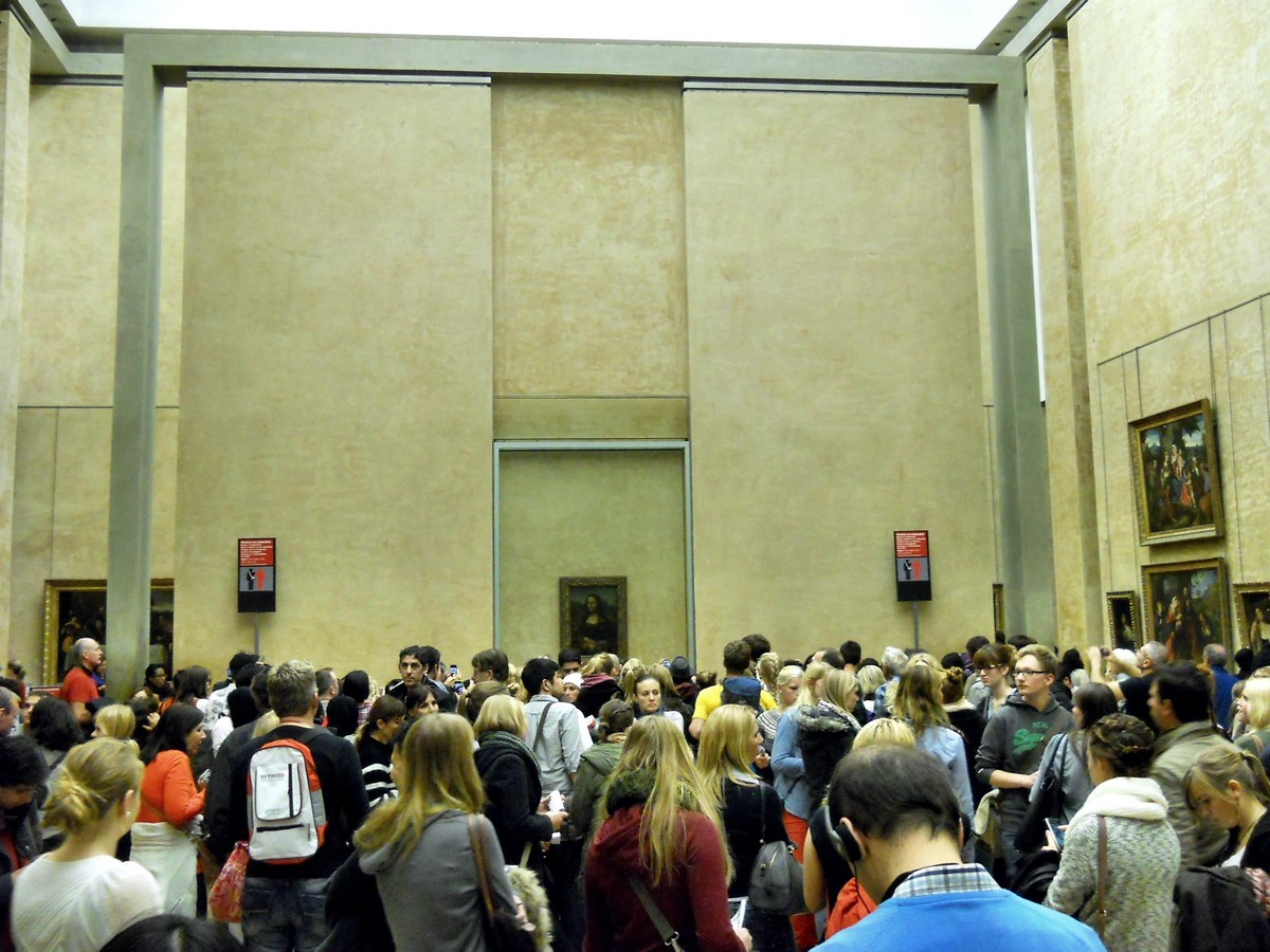 Джоконда в Лувре. Фотография Малец Михаила Георгиевича